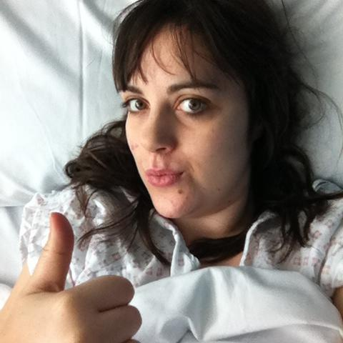 I was well enough to do yet another TERRIBLE post-op selfie. Somebody needs to remove my phone when I'm under the influence of morphine.